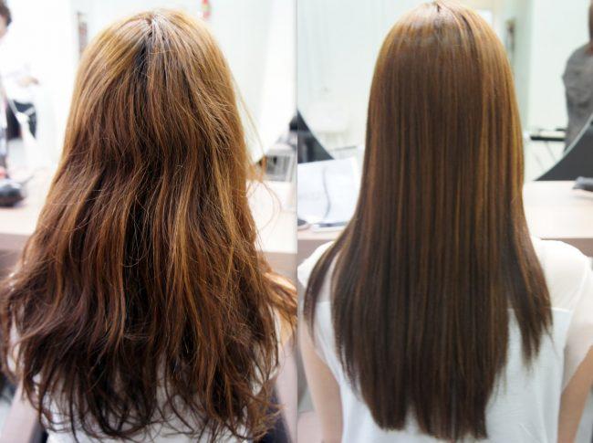 Antes e depois do botox capilar