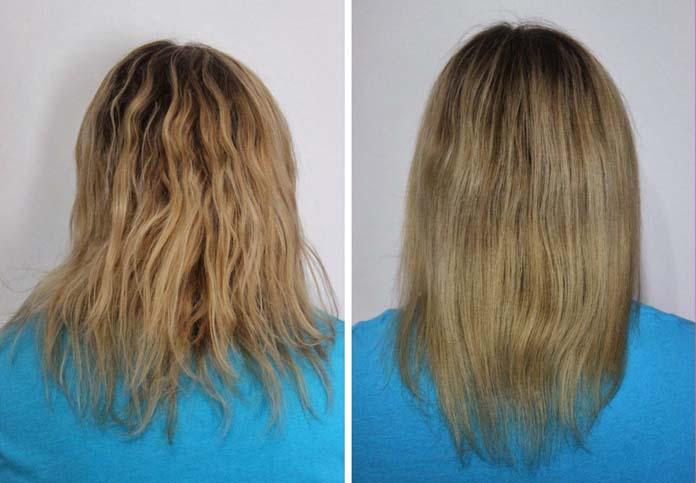 Antes e depois do cronograma capilar 01