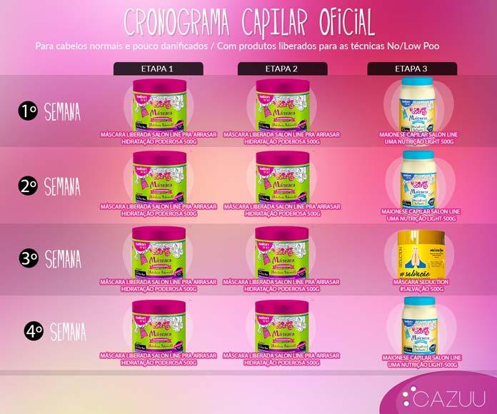 Cronograma capilar salon line