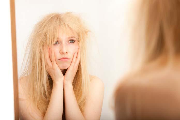 Hidratação para cabelos secos