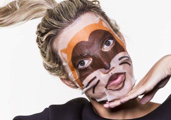 Máscara facial de bichinhos