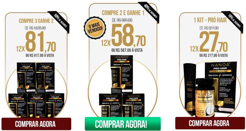 Nanoa Pro Hair preço