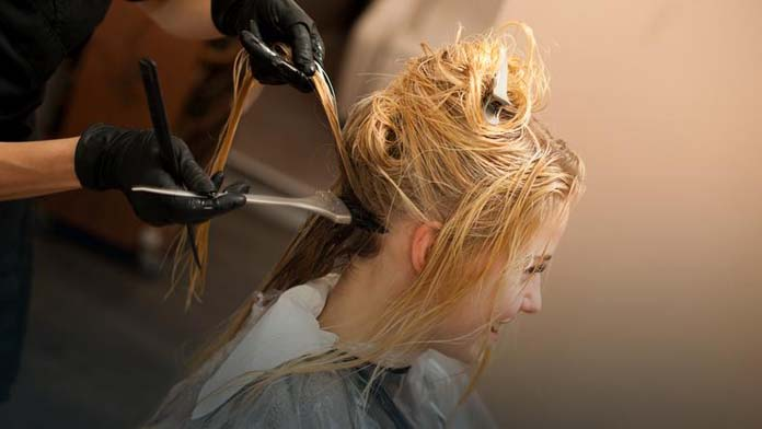 pintando os cabelos