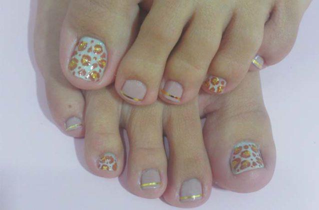 unhas dos pés decoradas