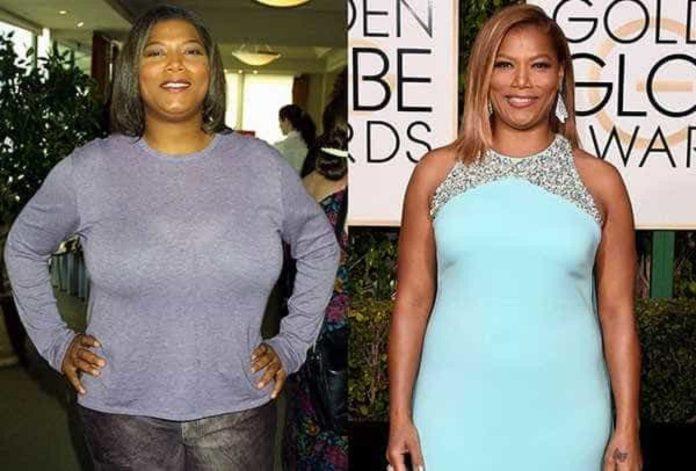 Queen Latifah antes e depois da redução de mama