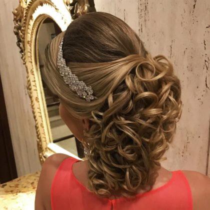 Penteado para casamento à noite